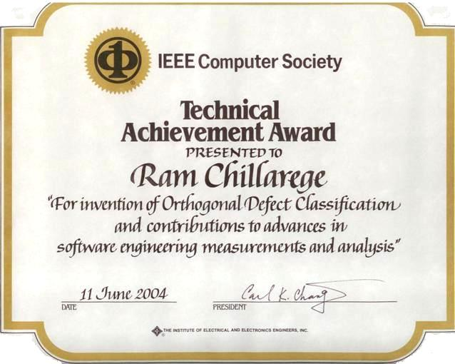 Technology Management Image: IEEE Computer Society Technical Achievement Award